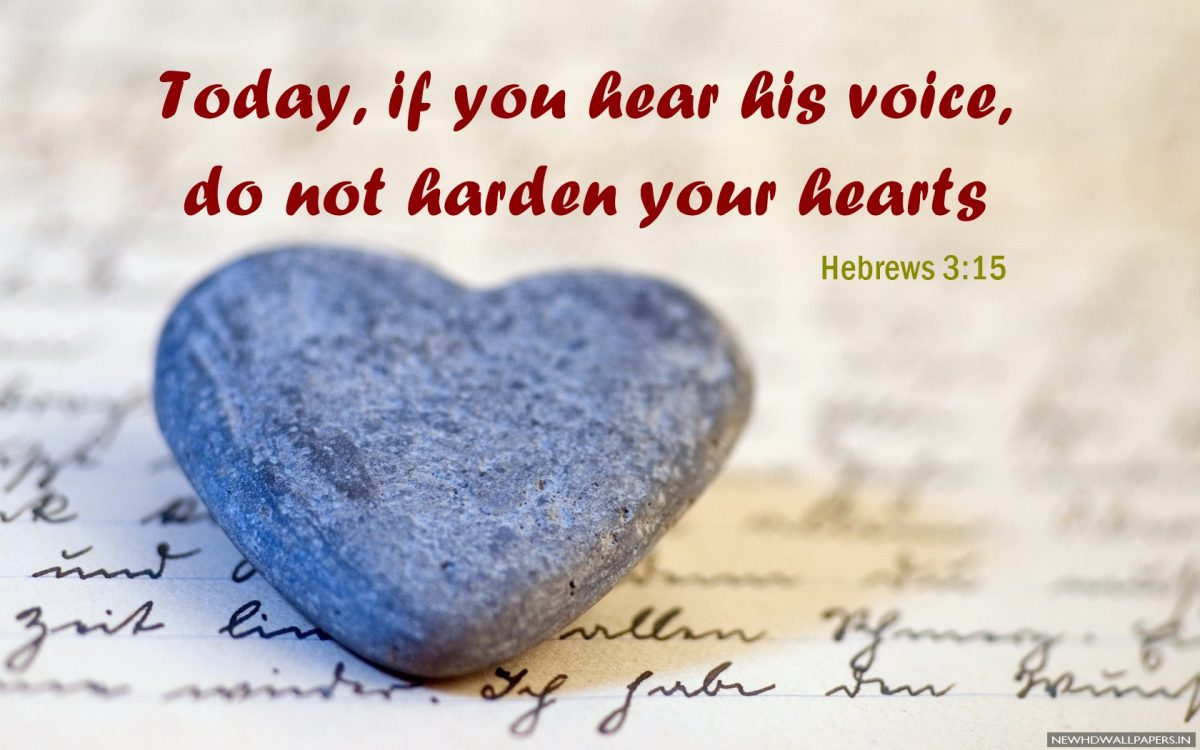 Do not harden your hearts