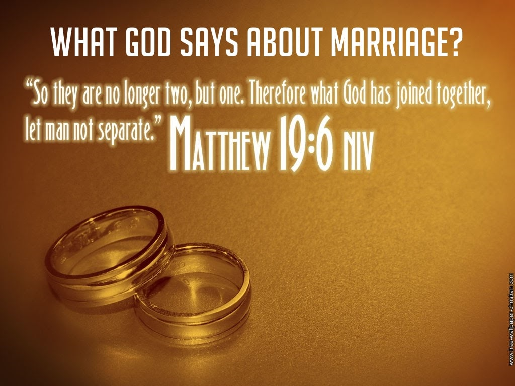 What God Says about Marriage>